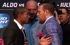 Jose Aldo plays down reports that he was slapped by Conor McGregor