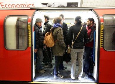 File photo of commuters on the Tube
