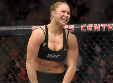 Dominant UFC champion Ronda Rousey.