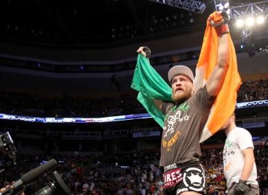 UFC featherweight title challenger Conor McGregor.