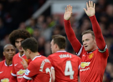 Manchester United captain Wayne Rooney scored his side's third goal today.