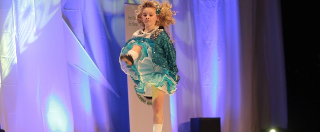 Chrissy Dee competes at the World Irish Dance Championships in the INEC, Killarney.