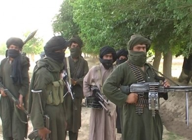 File photo of members of the Taliban