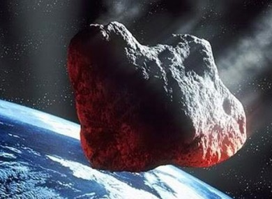 This is not the real meteor. This is from the movie Armageddon.