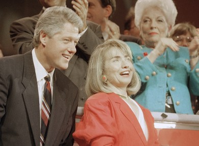 Hillary and Bill Clinton, pictured in 1992.