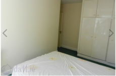 There's something awfully wrong with the bed in this Wexford flat listing