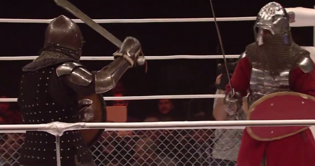 Who WOULDN'T want to watch an MMA bout between two medieval knights?