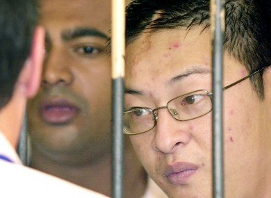 Condemned drug smugglers Myuran Sukumaran and Andrew Chan in 2006
