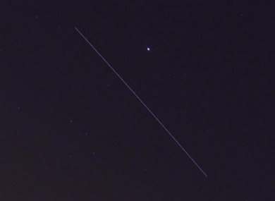 The ISS passing over the UK last night.