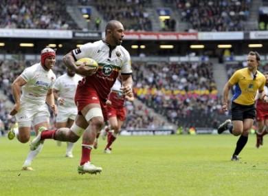 Samu Manoa scored Northampton's only try at Twickenham.