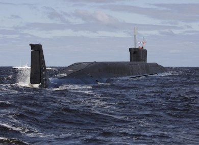 File photo of a Russian submarine.