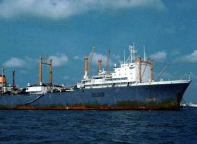 The Dalniy Vostok, the sunk Russian trawler.