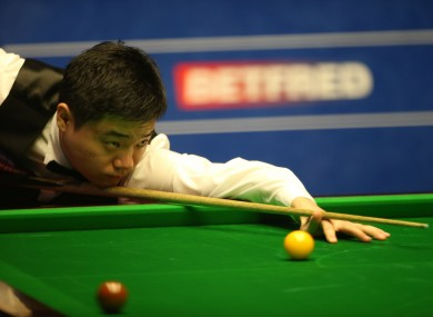 Ding Junhui will count the cost of his lapse in concentration.