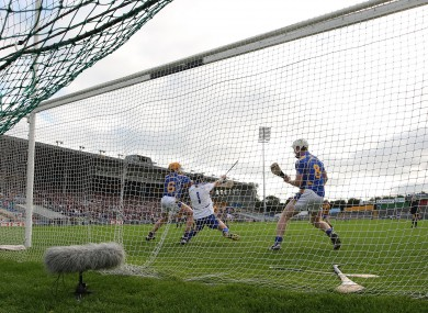 James Logue in action for Tipperary in the 2010 Munster U21 hurling final.