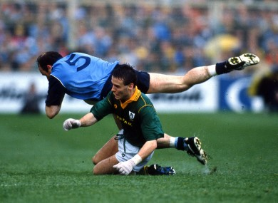 Dublin's Tommy Carr and Meath's Bernard Flynn in opposition back in 1991.