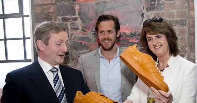Enda and Joan look pretty happy with their 200 new jobs and orange trainers