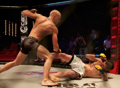Conor McGregor piling the pressure on Dave Hill at CWFC 47.