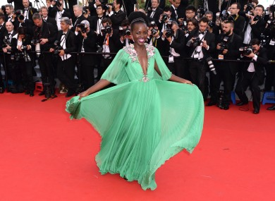 Lupita Nyong'o on the Cannes red carpet
