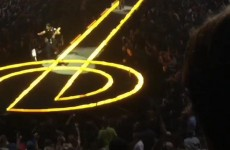 The Edge took a tumble off stage during U2′s opening night