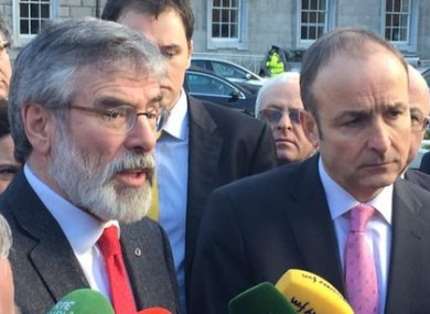 Gerry Adams and Micheál Martin