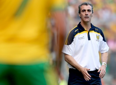 Jim McGuinness will have a different view of the championship this summer.