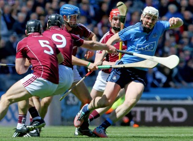 Liam Rushe in action against Galway today.