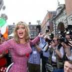 Panti being mobbed at Dublin Castle <span class=