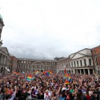 Scenes from Dublin Castle this afternoon. <span class=