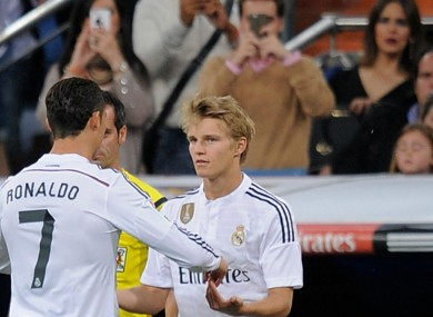 Martin Odegaard replaces Cristiano Ronaldo for Real Madrid debut