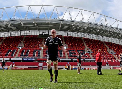 O'Connell trained in Thomond Park today ahead of Pro12 clash with Ulster.