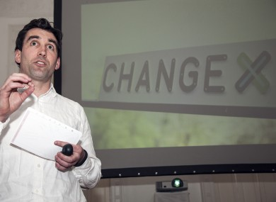 Founder Paul O'Hara launching ChangeX100 earlier this week.