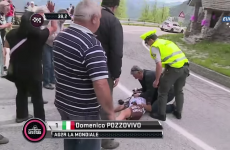 Italian cyclist 'conscious and lucid' after this horror crash at the Giro d'Italia