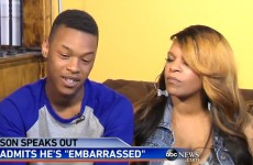 Baltimore teen hit by his mother on camera is sorry for rioting