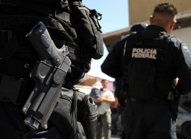 Federal police in Mexico.