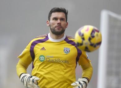 West Brom's England goalkeeper Ben Foster.
