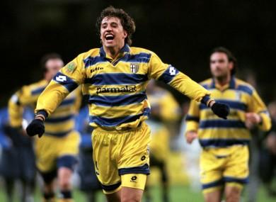 Hernan Crespo scored 70 goals in four seasons with Parma between 1996-2000.