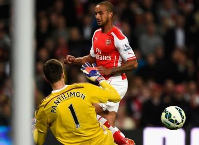 Arsenal forward Theo Walcott.