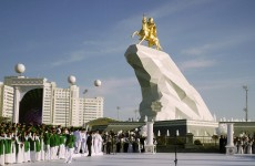 Turkmenistan has unveiled this MASSIVE statue of its president riding a horse