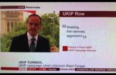 A BBC reporter just accidentally called Nigel Farage a c**t live on air