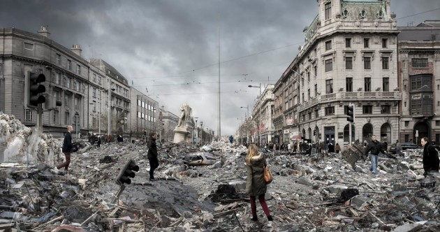Here's what O'Connell Street would look like after an earthquake