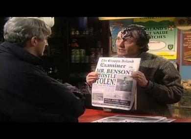 Classic Father Ted episode Old Grey Whistle Theft is on RTÉ 2 this evening