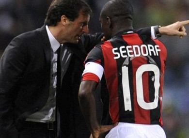 "Allegri: ""Seedorf wanted to discuss every detail and just talk, talk, talk."""