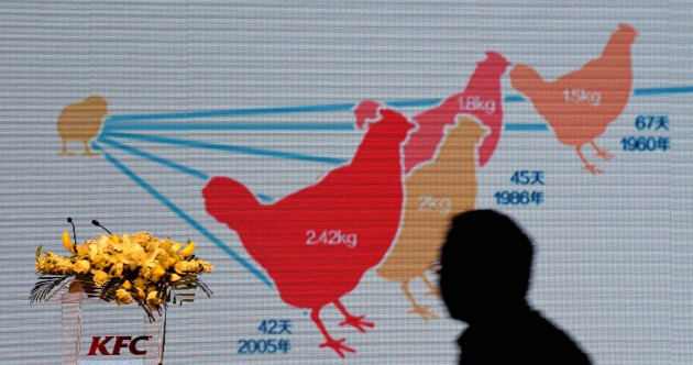 KFC is suing over claims it uses chickens with eight legs and six wings
