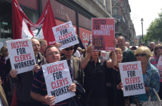 Hundreds turn out for angry protest against Clerys job losses