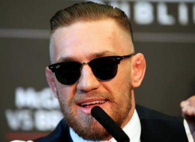 UFC superstar Conor McGregor.