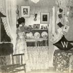 This woman's dorm in 1898 isn't MUCH different from the modern day... <span class=