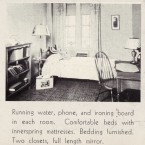 An ad for a room in 1927 noted perks like running water. <span class=