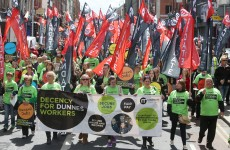 THOUSANDS of protesters descend on Dunnes Stores HQ
