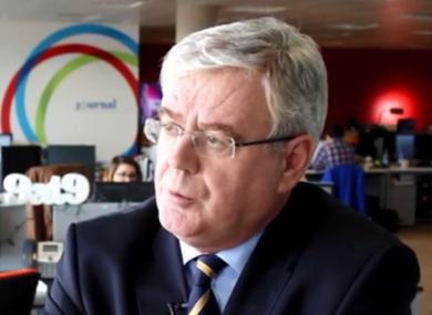 Eamon Gilmore speaking to TheJournal.ie last year when he said he WOULD run for re-election.