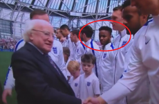 Anyone care to guess what Michael D Higgins said to Raheem Sterling today?